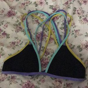 Victoria Secret | Triangle Multi Color Bikini Top
